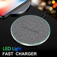 Cloth 10W Wireless Charger Fabric Fast Charging Pad Mat For iPhone Samsung