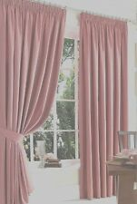 "COTTON SATIN LINED CURTAINS ,66""X90"" in ROSE- BABY -CANDY-PINK"