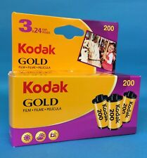 Fresh & Sealed package of Kodak Gold 200 24 Exp. Film 3 Pack/3 Rolls of 24 Exp.