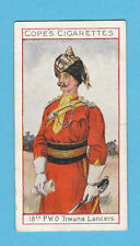 MILITARY  -  COPE  BROS.  -  RARE EMINENT BRITISH OFFICERS CARD NO.  12  -  1908