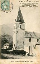 Pub Exiger la Mousseline des Alpes Liqueur Route Grande Chartreuse Eglise SAPPEY