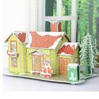 Cute Educational 3D Model House DIY Puzzle Jigsaw Crafts Kids Toy XMAS Gift B