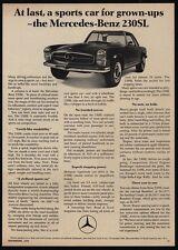 1967 MERCEDES-BENZ 230SL Luxury Car - Sports Car For Grown Ups - VINTAGE AD