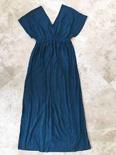 NEW Liz Lang Women's Maternity Soft Knit Maxi Dress Blue Size XS