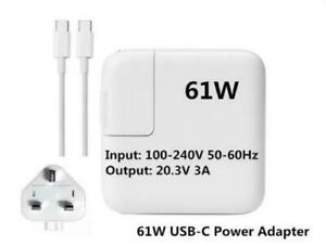 """ Genuine Refurbished Apple 61W MacBook Pro 13"""" 2020 Adapter Charger A2338 A2251"""