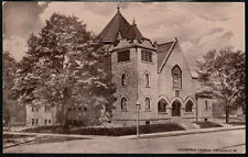 SWISSVALE PA Lutheran Church Antique Town View Flag Cancel Postcard Old Vtg PC