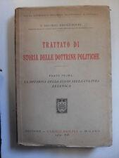 BEONO/BROCCHIERI TRATTATO DI STORIA DELLE DOTTRINE POLITICHE HOEPLI