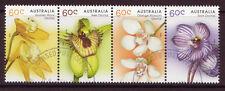 Australie 2014 indigènes Orchidées Bande de 4 très bien utilisé