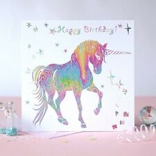 Happy Birthday Greeting Card Unicorn pink multi