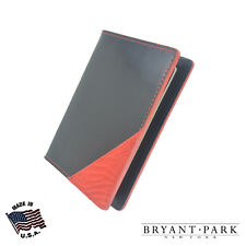 Bryant Park Leather Passport Holder Case Genuine Alligator Corner Black Red USA
