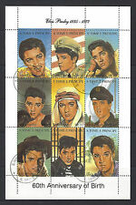 S TOME E PRINCIPE 1935-1977 ELVIS PRESLEY 60TH ANNIVERSARY OF BIRTH USED SHEET