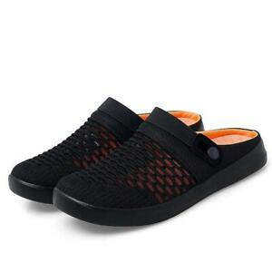 Mens New Summer Slip On Slippers Breathable Flats Mules Loafers Mesh Casual Shoe