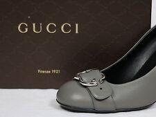 Gucci shoes Pump logo silver emblem buckle grey 10 40