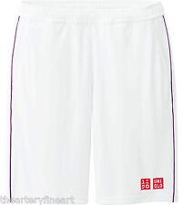 UNIQLO x Novak Djokovic 2014 Wimbledon Tennis Shorts X-LARGE Dry-Ex White *NWT*