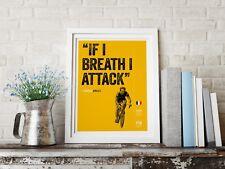 Set of motivational Cycling Art Print A4