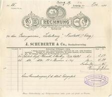 Factura viejos, Leipzig, j. Schuberth musikalienverlag 1911 #d994