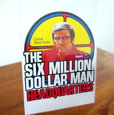 SIX MILLION DOLLAR MAN HEADQUARTERS REPRODUCED ADHESIVE KENNER STORE DISPLAY