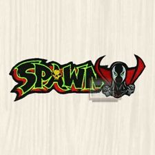 Spawn Logo & Head Patch Super Hero Comic Al Simmons Todd McFarlane Embroidered