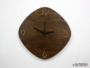 Wooden Oval Rhombus - Wooden Wall Clock