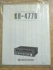 Original Owner/ User Manual for the Kenwood KR-4770 Receiver