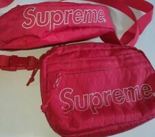 FW18 Supreme red waist and shoulder bags Water and Abrasion resistant