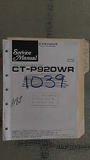 Pioneer ct-p920wr service manual original repair book stereo tape player