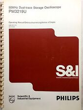 PHILIPS PM3219U Oscilloscope Operating Manual P/N 9499-440-21701