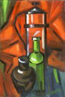 """Expressionist """"Kannen"""" Öl Leinwand 60x40 cm"""