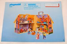 PLAYMOBIL INSTRUCTION MANUAL ONLY 5167 HOME /HOUSE