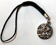 St Christopher Catholic patron saint of travellers - phone or bag charm