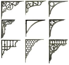 One Cast Iron Shelf Bracket - Metal Antique Victorian Book Shelves Wall Brackets