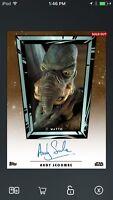 Topps Star Wars Digital Card Trader Marathon Watto Signature Insert