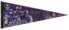 Minnesota Vikings SKOL 4-Player NFL Football Premium Felt Collectors PENNANT