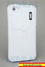 Funda Apple Iphone 5 / 5S protectora / bumper con soporte blanca blanco