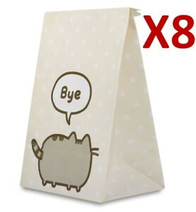 PACK OF 8 PUSHEEN BIRTHDAY GOODY PARTY BAGS WITH 12 STICKERS  *FAST UK DISPATCH*