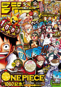 Weekly Shonen JUMP volume 2021  No.5.6 One Piece 1000 With poster NEW Book