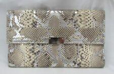 5125115e86 New Jimmy Choo Reese Clutch Bag Envelope Python Snake Metallic Leather Studs