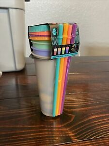 Tal Color Changing REUSABLE Tumblers & Straws Set 4 Pack Cold Cups & Lids 24oz