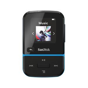 SanDisk Clip Sport Go MP3 Player 32GB Radio FM Blue 32 GB 18h battery iTunes