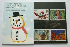 1981 CHRISTMAS PRESENTATION PACK 5 UK  POSTAGE STAMPS designer SAMANTHA BROWN