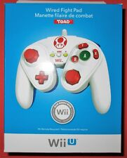 Wired Fight Pad for Wii U / Wii - TOAD - *New! *Sealed! *Free Shipping!