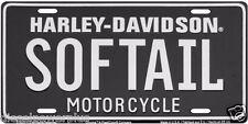 harley davidson motorcycle black softail ride road king loud license plate tag