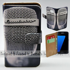 Wallet Phone Case Flip Cover ONLY for Samsung Galaxy S7 - Vintage Steel Mesh Mic
