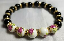Beautiful Crystal Handmade Glass Bead Bracelet from Venice Floral