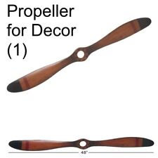 Wood Airplane Propeller 48x5-Inch Vintage Wooden Model Aviation Wall Home Decor