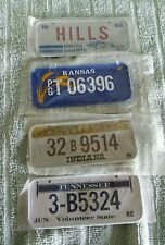 VTG.(4) Mini Miniature Bike License Plate's;NEW IN SEALED PACKAGES;
