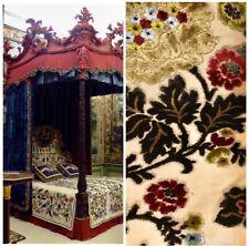NEW! Designer Belgium Burnout Floral Chenille Velvet Fabric - Upholstery