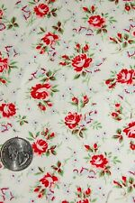 1 YARD FLORAL PRINT COTTON FABRIC ROSE REFLECTION MORNING GLORIES BLACKHURST
