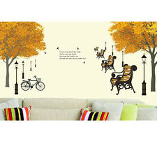 6900011 | Wall Stickers Trees in Autumn Antique Lamps Quote