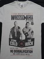 Steve Austin Stone Cold vs The Rock Wrestlemania XVII 17 WWE Wrestling T-Shirt